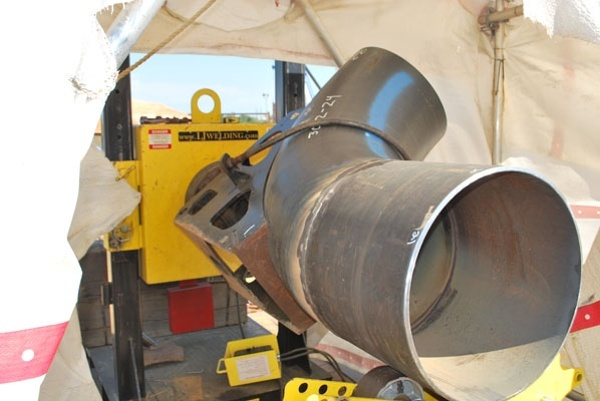 pipe welding positioners and elbow jig