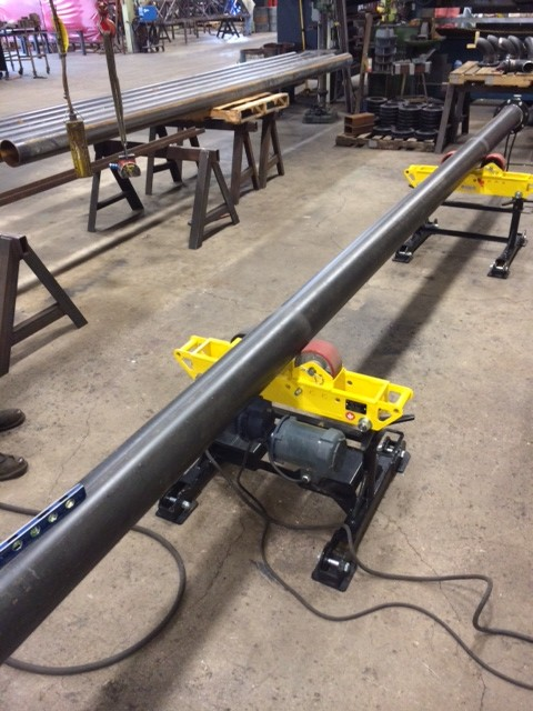 Used 4-Ton Pipe Roll Stands (pipe stand rollers) For Sale