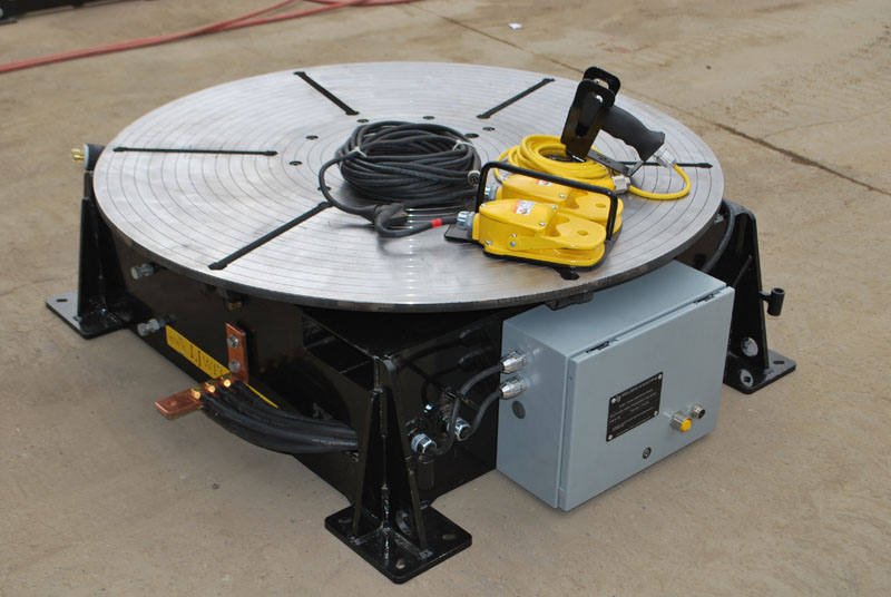used low profile welding turntable (floor turntable)