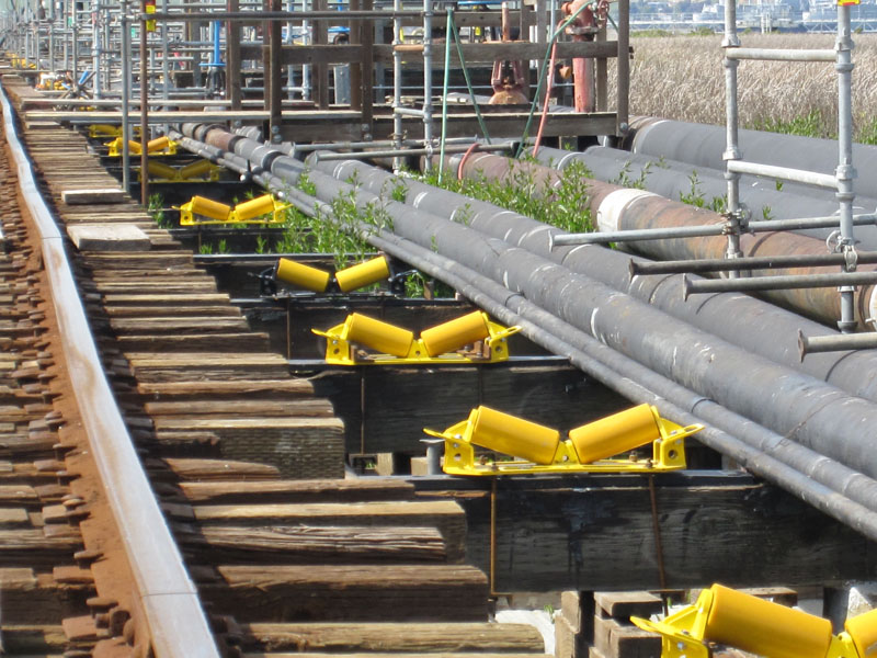 used i-beam pipe rigging rollers for rent