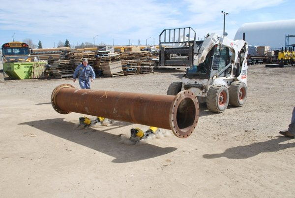 pipe roller supports for pipeline installation