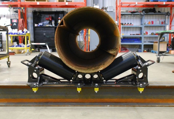 pipe rigging rollers