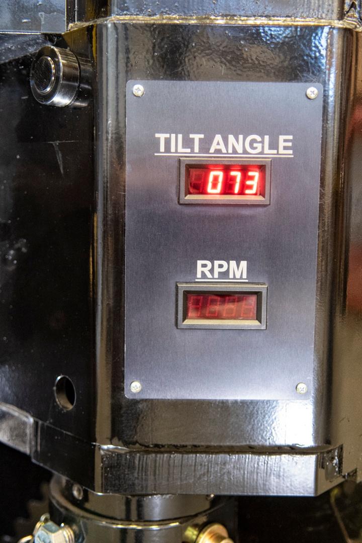 tilt angle display for the t24ps-100 gear tilt positioner