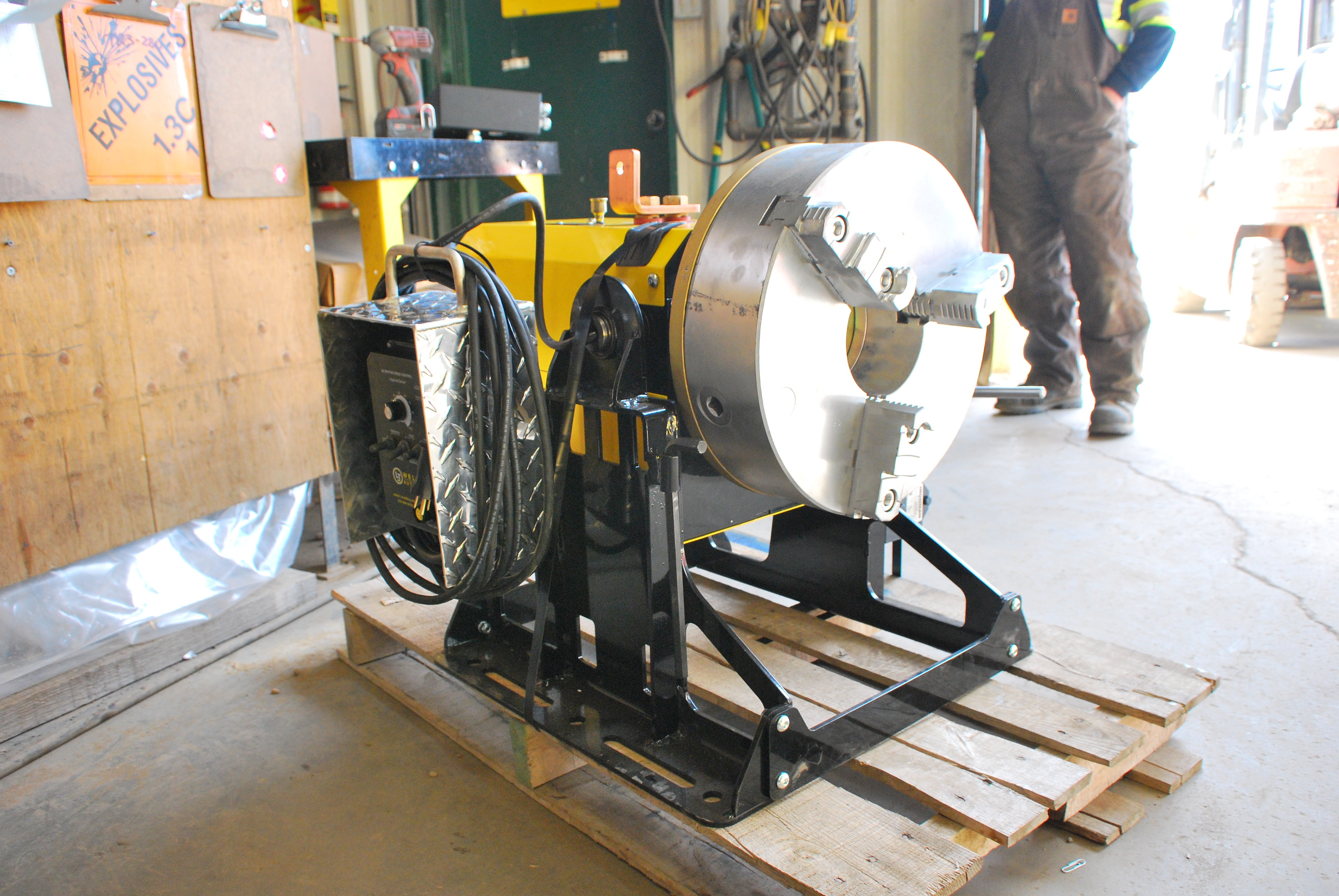 bench top welding positioner