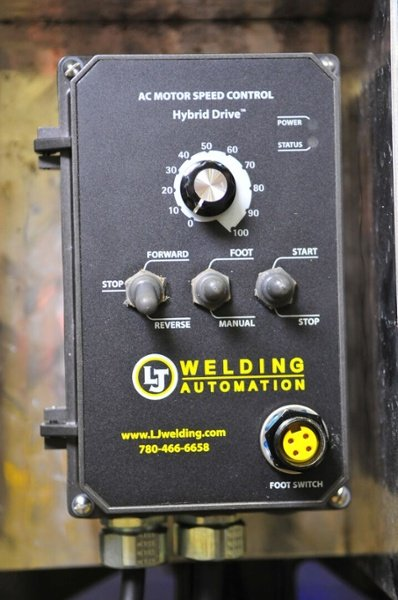 controls for benchtop pipe welding positioner