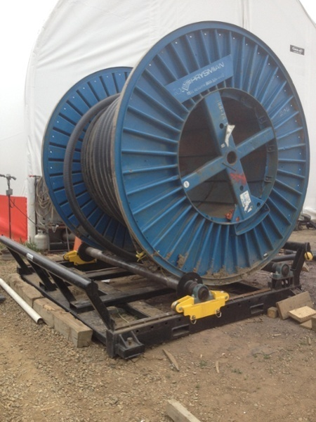cable reel rollers with drum