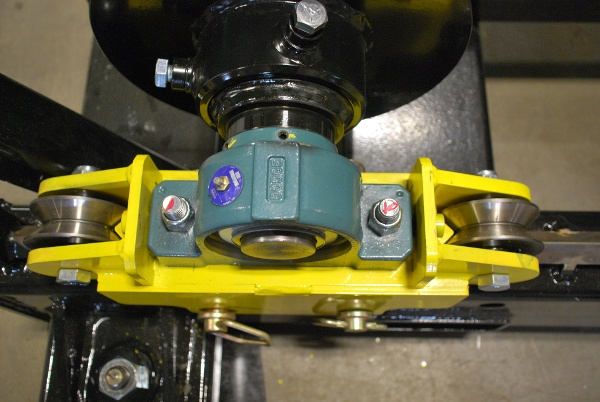 cable reel rollers for cable payout