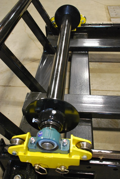 cable reel roller for cable payout