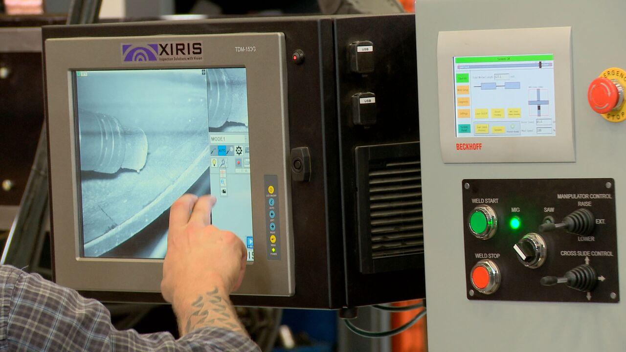c&b welding manipulator controls