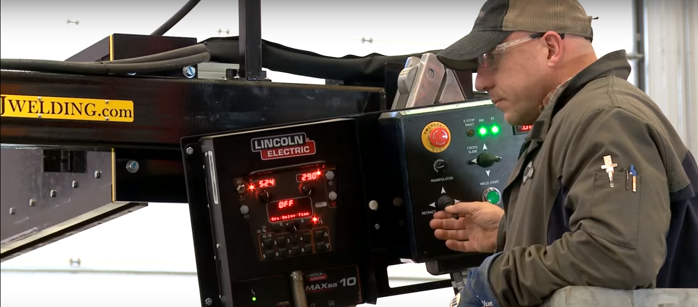 lincoln electric boom mounted controls for C&B manipulator
