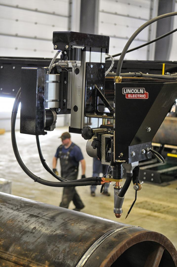 column and boom flux feed systems