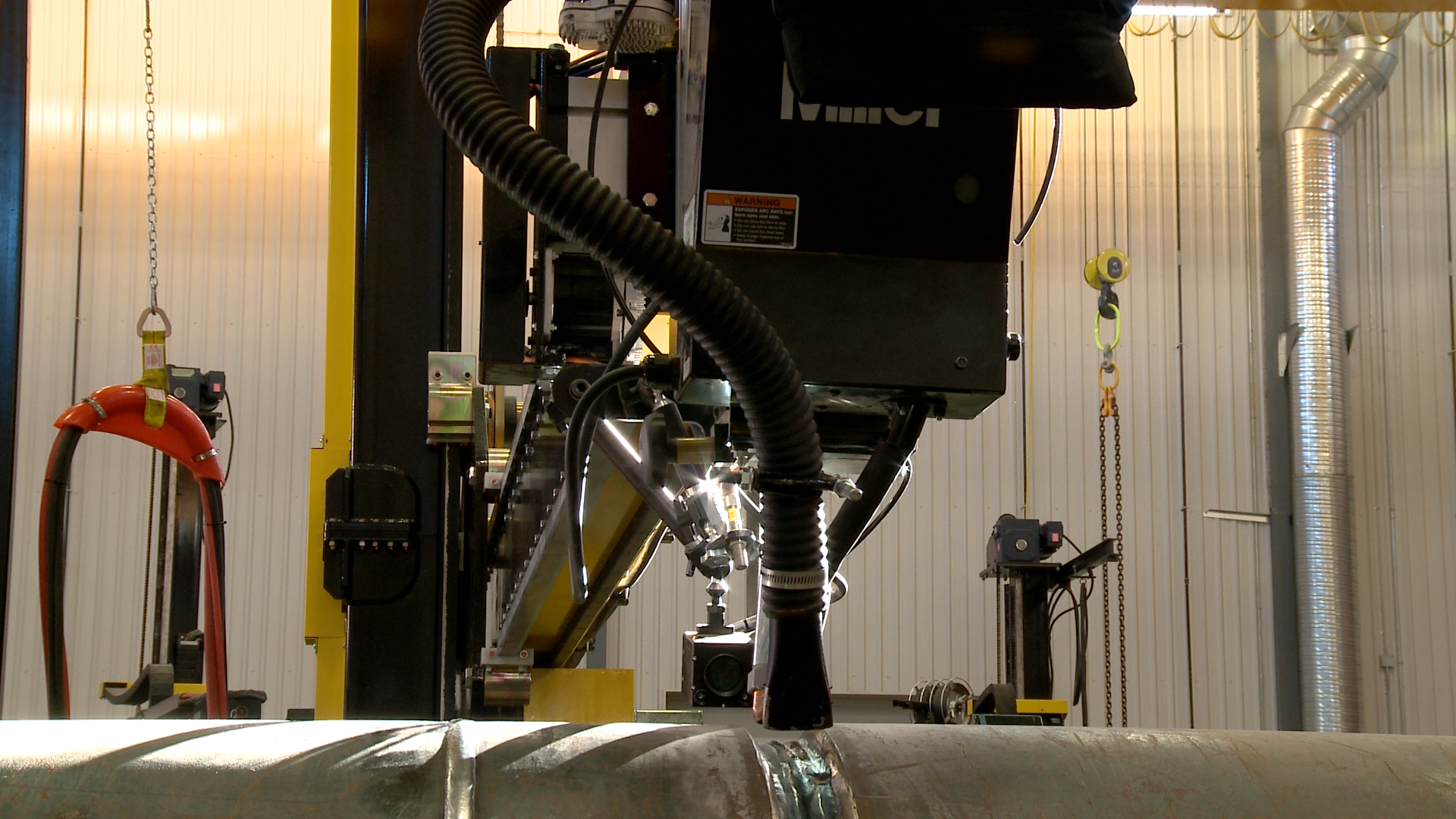 flux recovery for submerged arc welding.