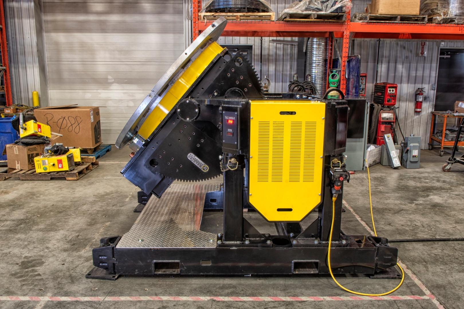 tilt turn gear tilt 24000 lb capacity weld positioner