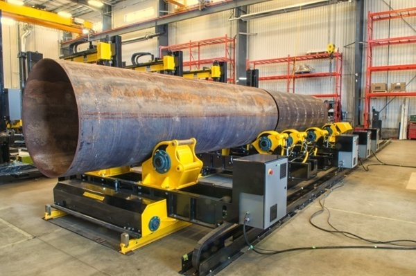 pipe growing line fit-up bed turning roll system