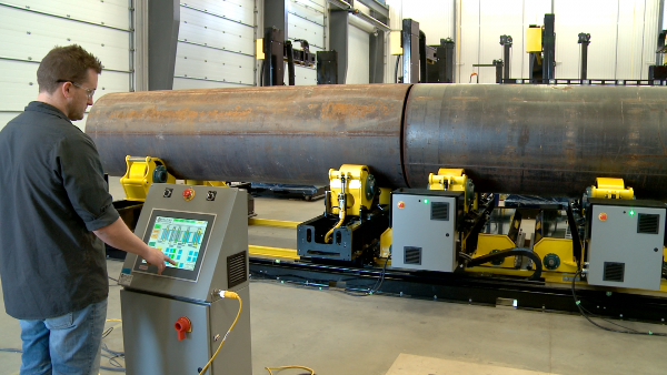 growing line alignment fit up turning rolls