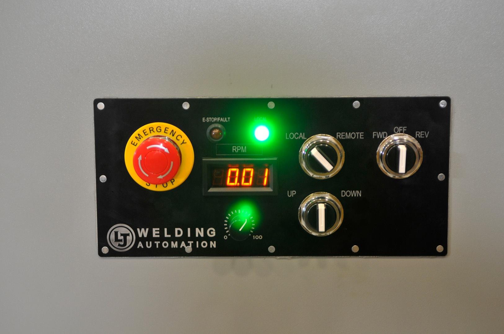 Headstock tailstock welding positioners controls