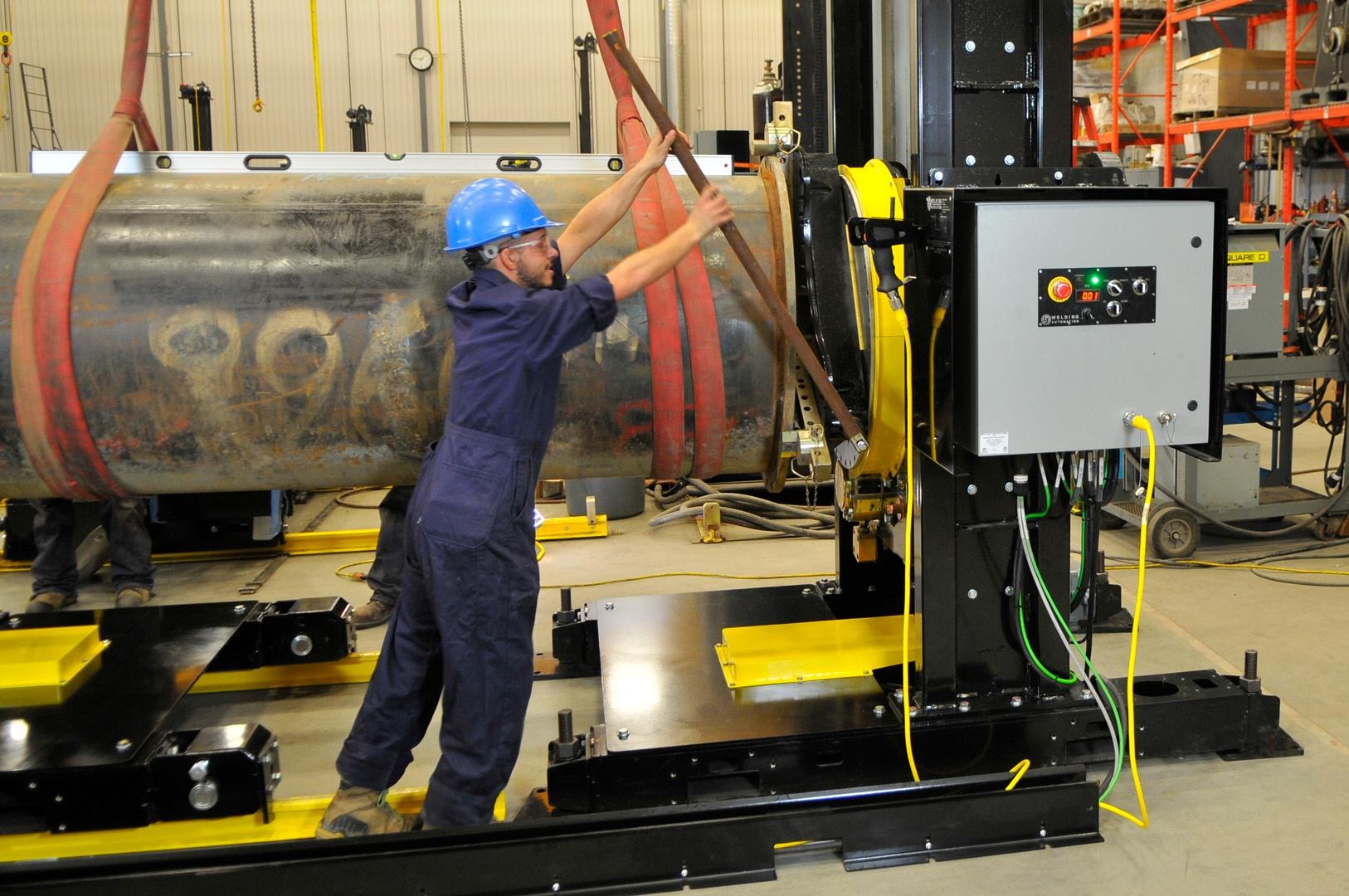 headstock welding positioner