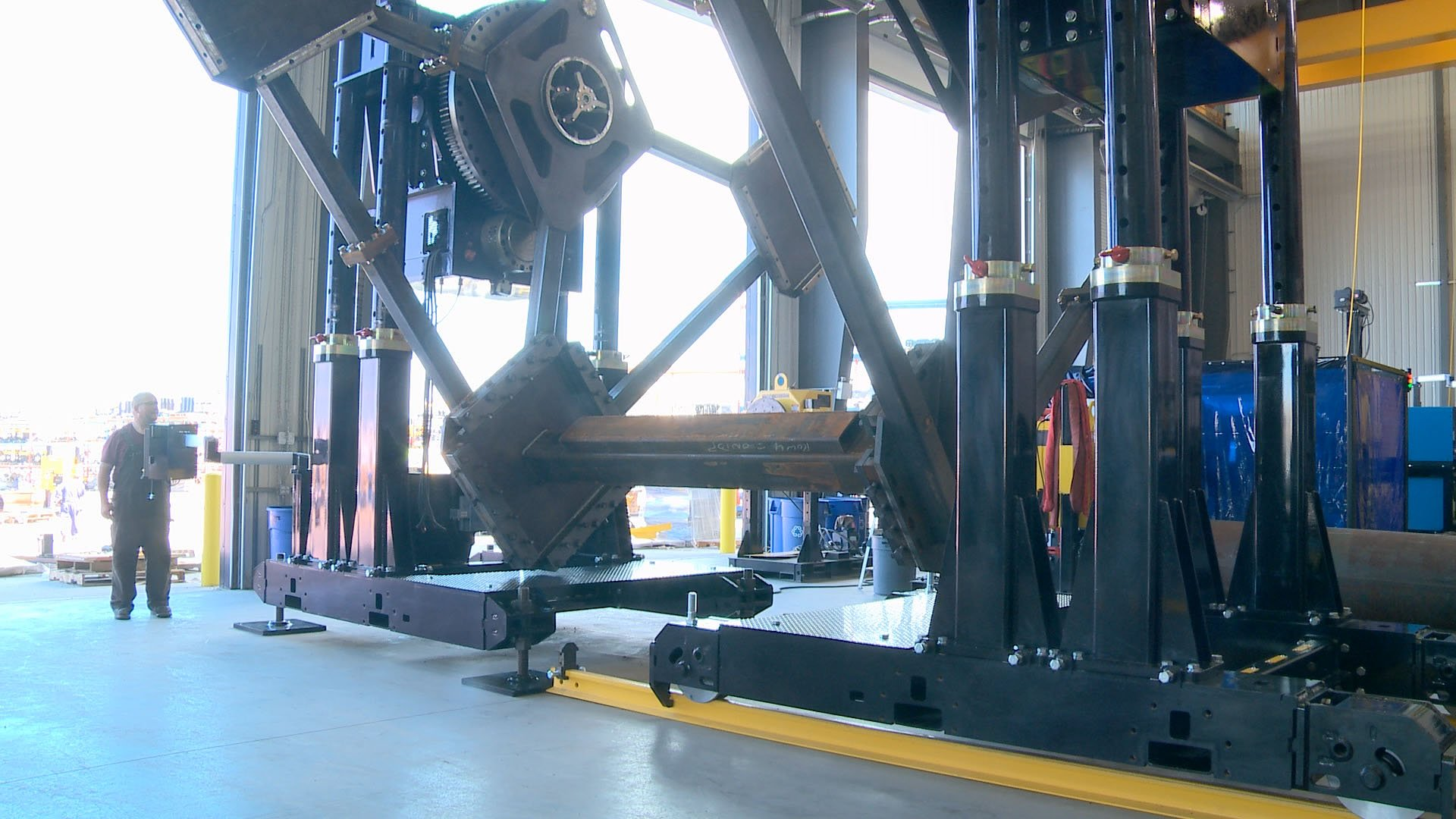 headstock tailstock welding positioner system