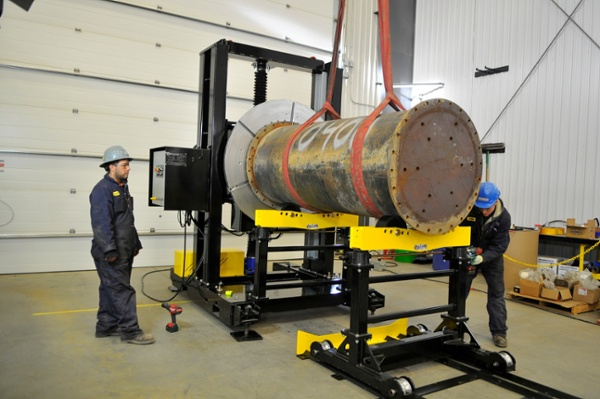 welding cell with a headstock welding positioner and pipe stands for sale
