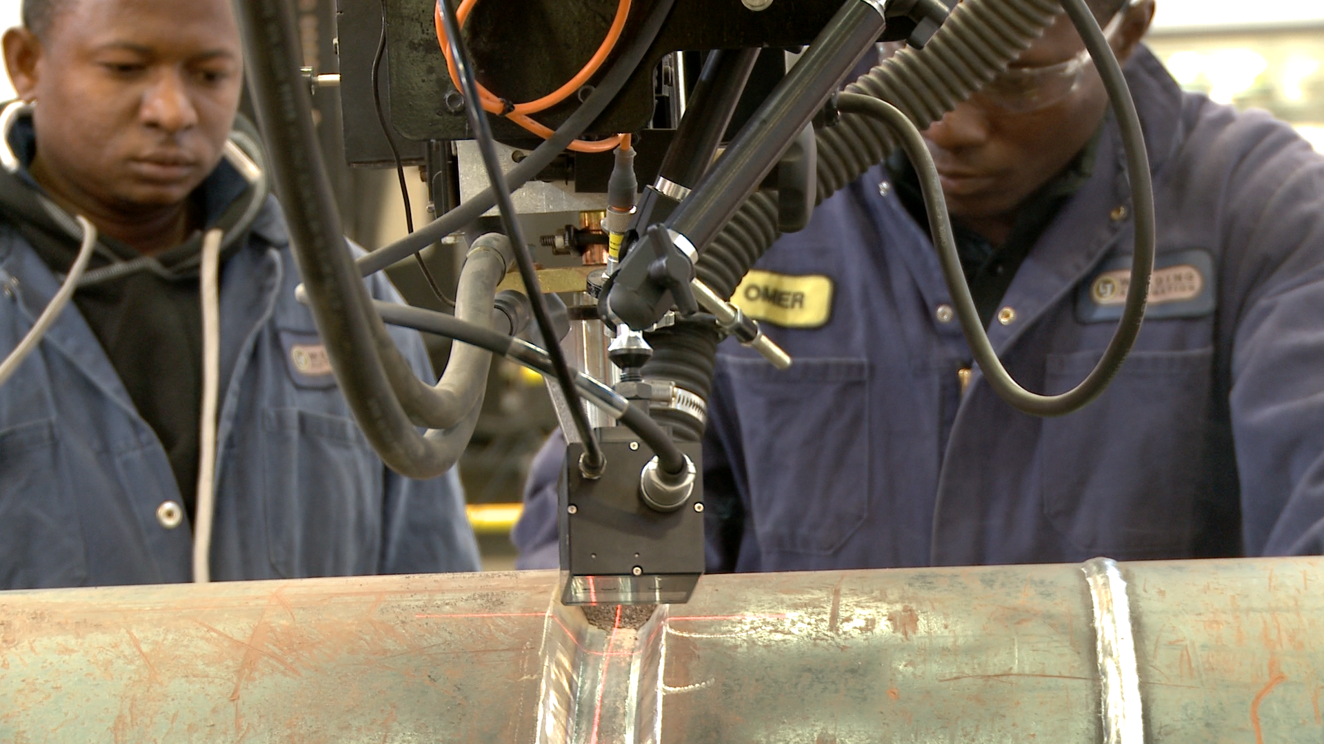laser seam tracking on a subarc welding manipulator.