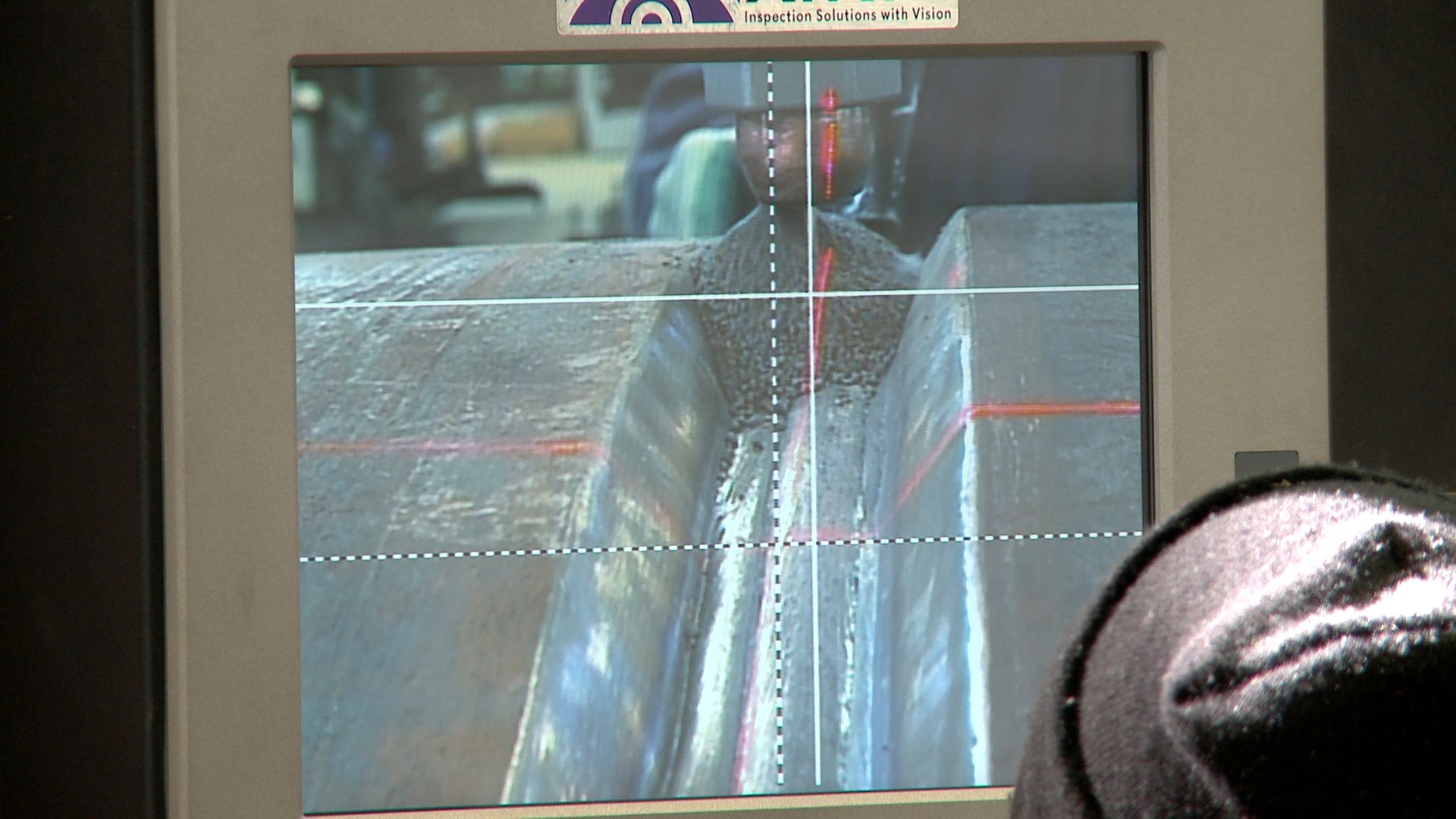 laser vision seam tracking for a subarc column and boom.