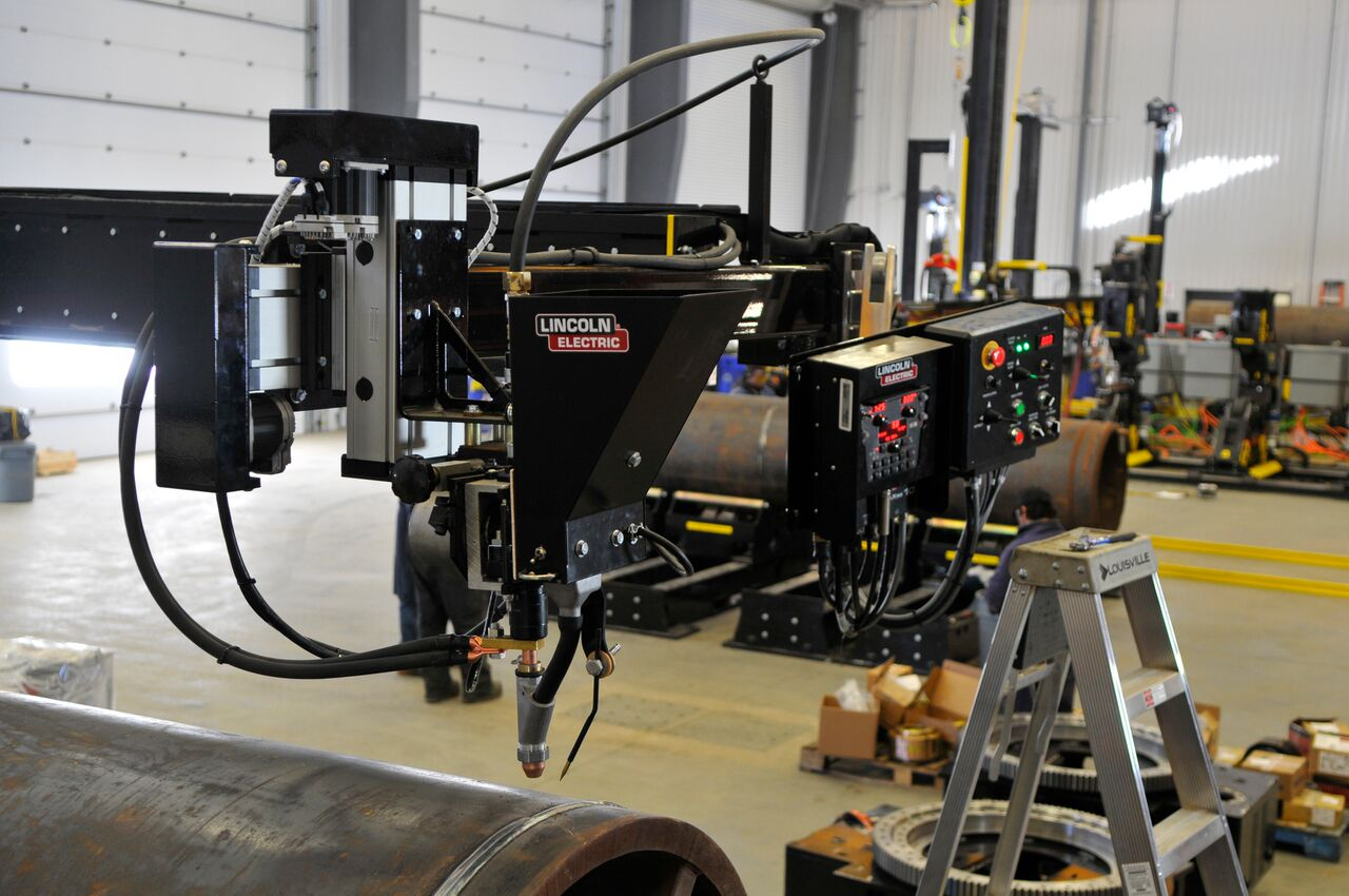 lincoln electric column and boom welding manipulator subarc