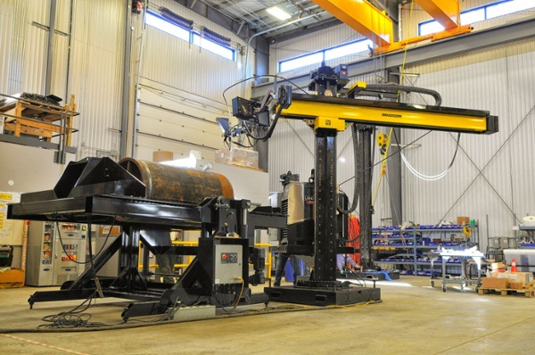 lincoln electric column and boom manipulator for submerged arc