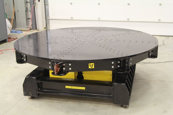 low profile turntable for welding