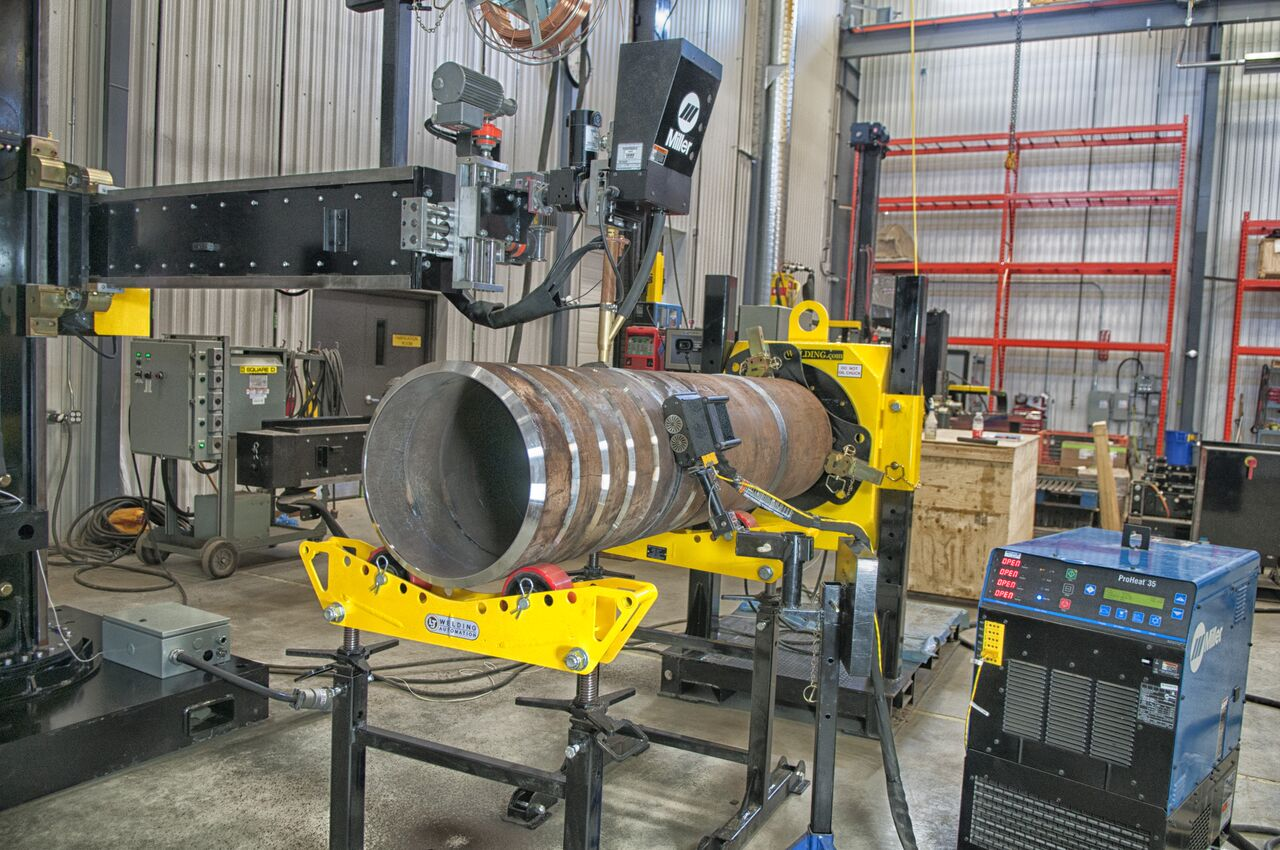miller welders subarc column and boom manipulator
