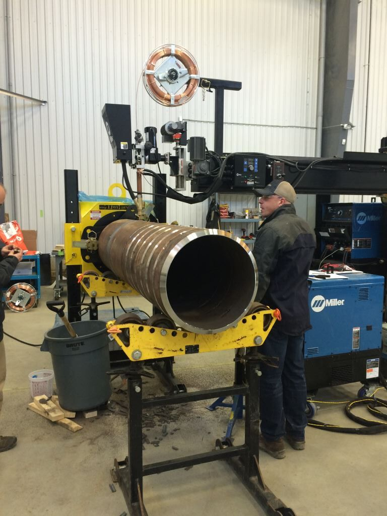 submerged arc column and boom welding manipulator