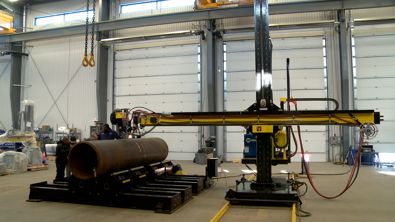 subarc miller welders column and boom welding manipulator