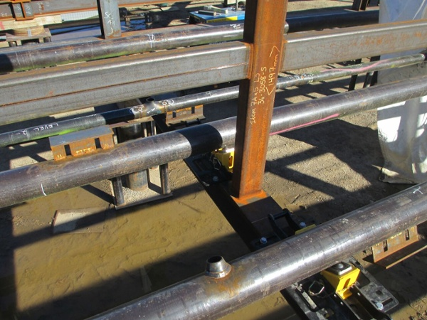 pipe rack rigging rollers