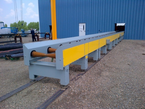 heavy duty pipe conveyor system