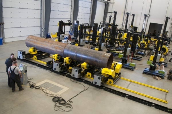pipe growing line fit up bed turning roll system