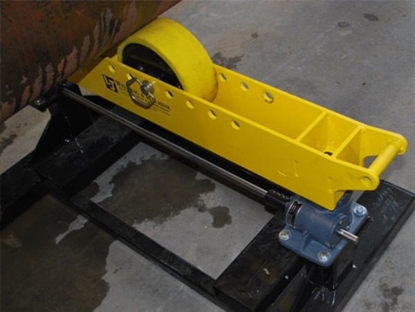 geared height adjust pipe stand roller supports