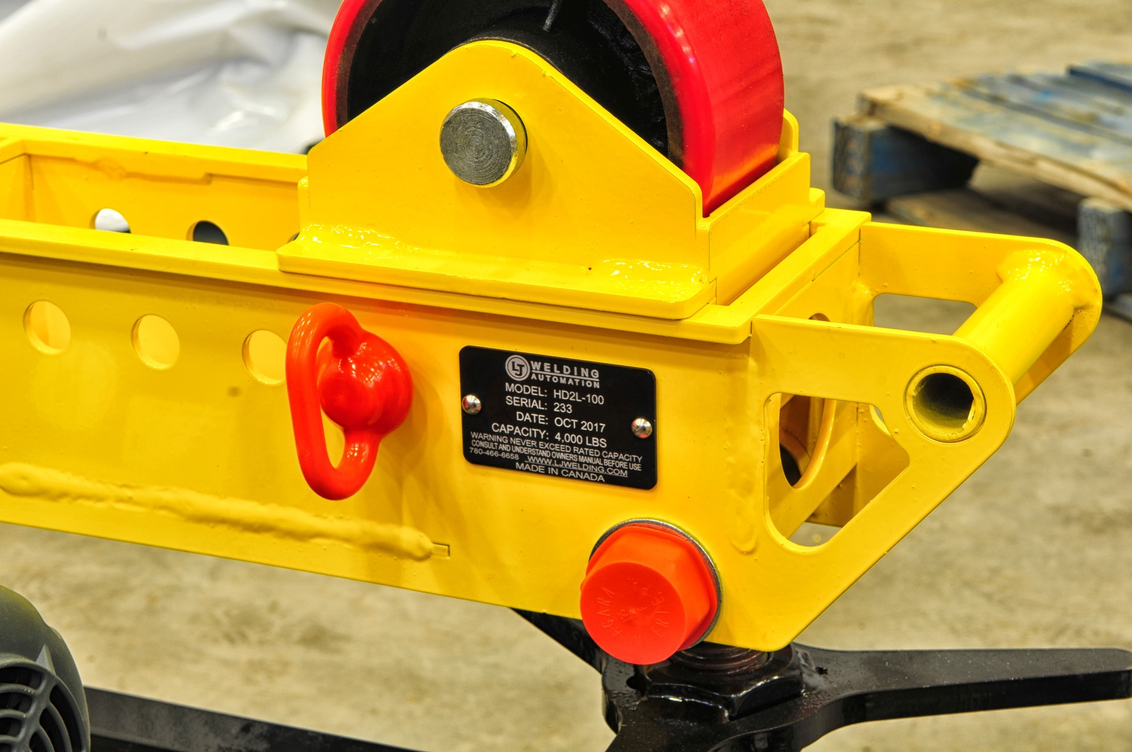 2-ton HD2L-100 pipe roller support stands