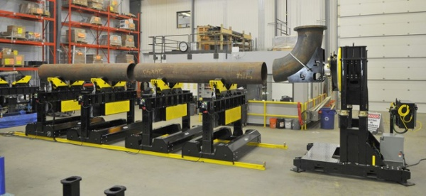 heavy-duty pipe welding positioner and turning rolls.