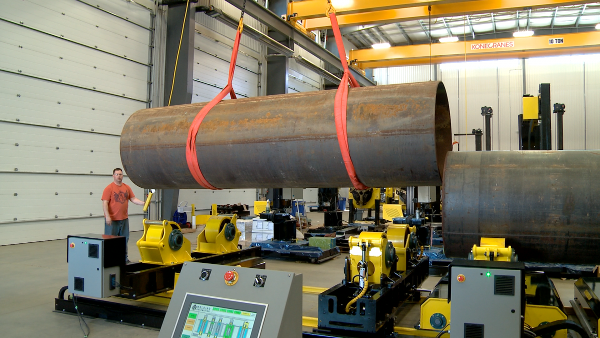 growing line turning roll automated welding system