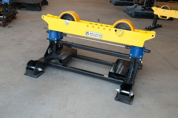 pipe roller stands with geared height adjust
