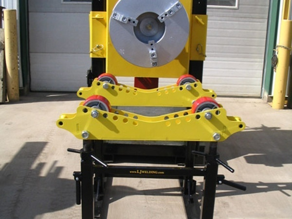 welding positioner with pipe roller stands