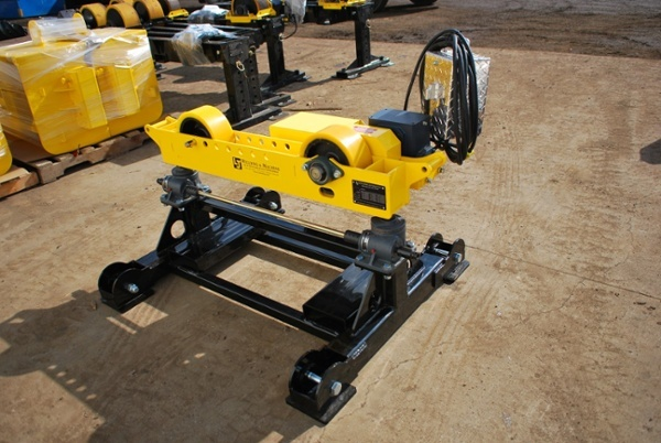 pipe roller stand with geared height adjust for sale