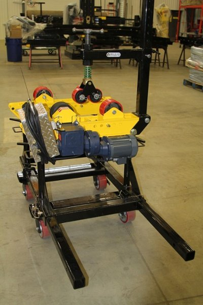 roller cart for welding pipe stands