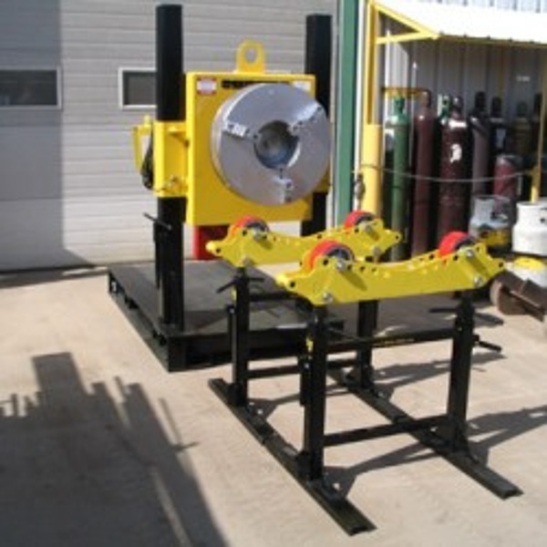 pipe roller supports with welding positioner