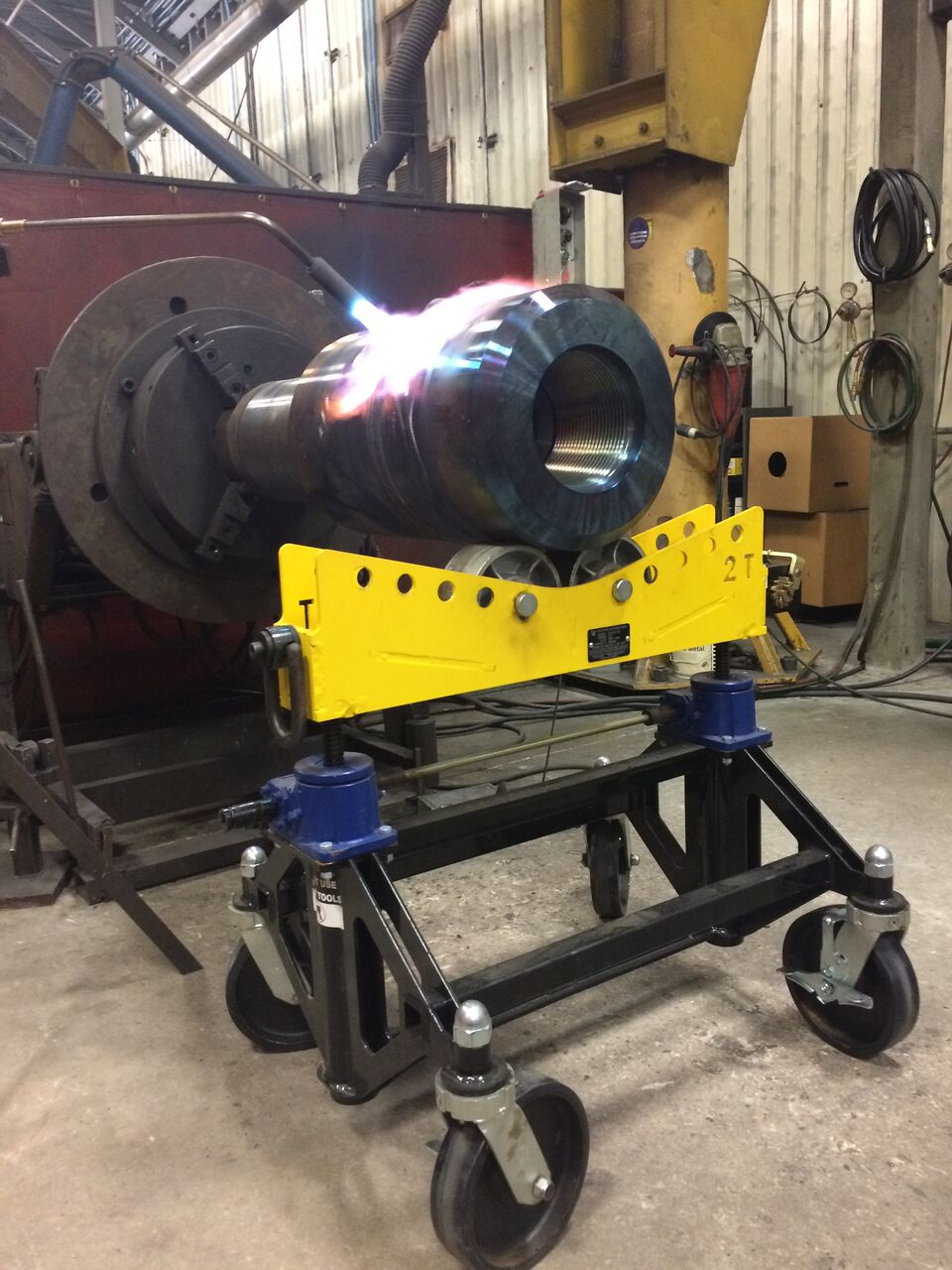 welding pipe stands with rollers
