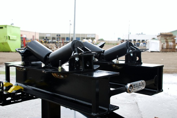horizontal pipe rigging rollers for i beams