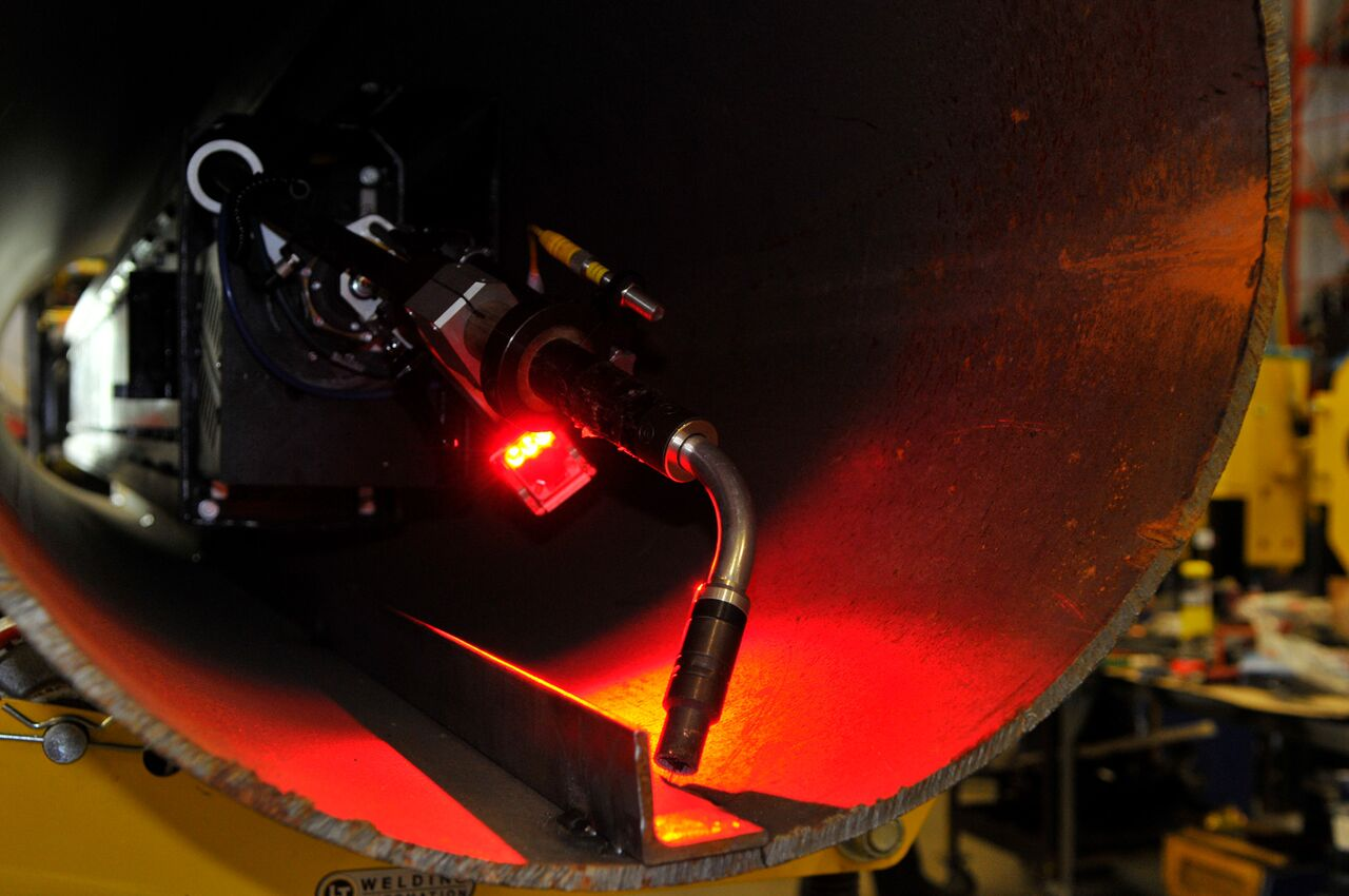 laser vision seam for CaB manipulator systems
