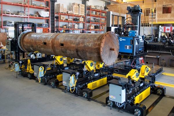 self aligning pipe rotator rolls