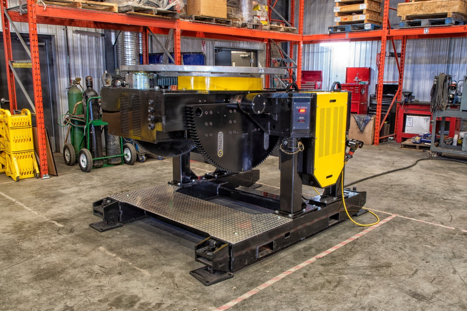 flat facing gear tilt welding positioner with 24,000 lbs load capacity