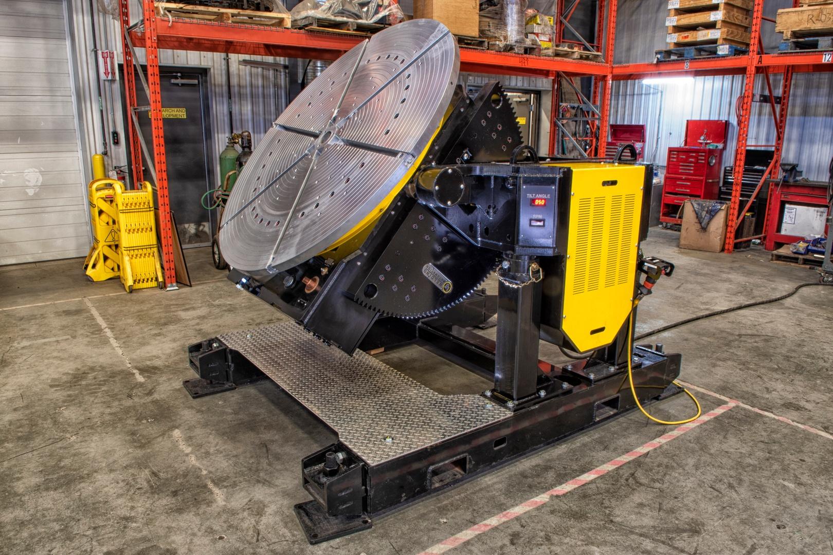 24000 lbs capacity gear tilt turn welding positioner