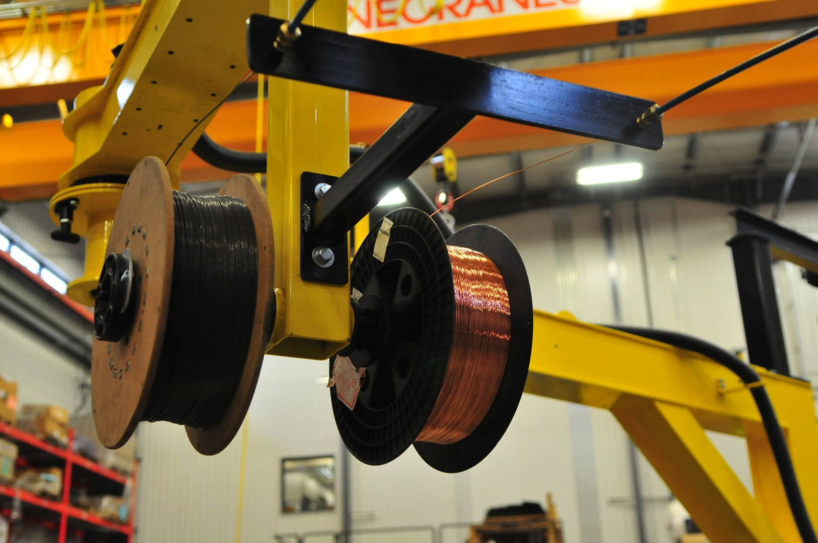 wire feed for MIG welding jib
